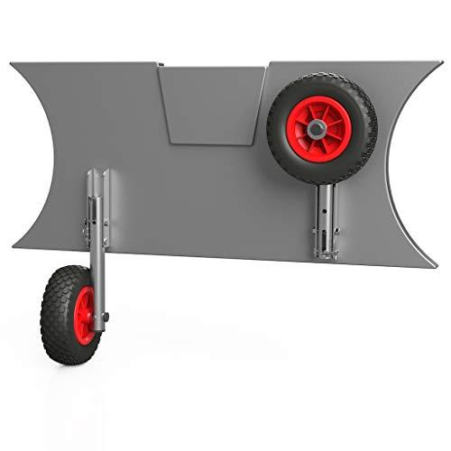 SUPROD Slipräder, Schlauchbooträder, Heckräder, mit Drehfunktion, MD200, Edelstahl V4A, schwarz/rot