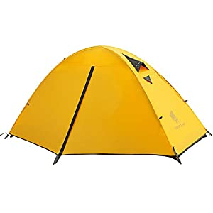 GEERTOP 1人用テント ソロキャンプ テント ツーリングテント 軽量テント 二重層 コンパクト 防水テント UVカット バイク キャンプ アウトドア
