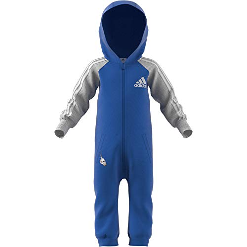 adidas Baby OneSize Trainingsanzug, Blue/Medium Grey Heather/White, 86