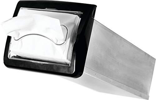 San Jamar H2003CLBK Venue in-Counter Napkin Dispenser, Interfold, Clear/Black