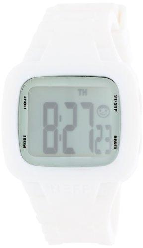 Neff NF0207WHT - Reloj Digital Unisex, Correa de Silicona Color Blanco