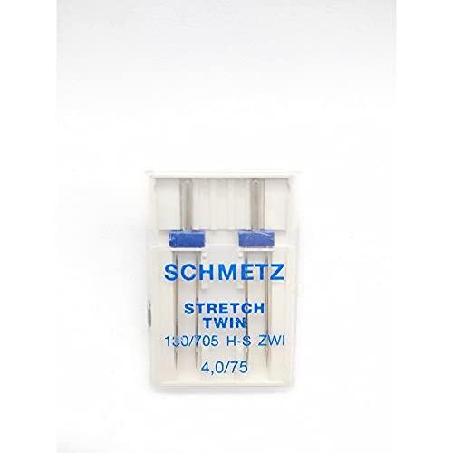 TOMASELLI MERCERIA 2 agujas para gemelos Schmetz para máquina de coser, industrial,...