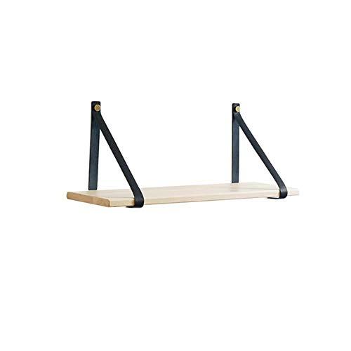 Plankenhouders van leer met planken, aan de muur gemonteerde decoratieve opbergplanken drijvende rekken 79*19*24cm