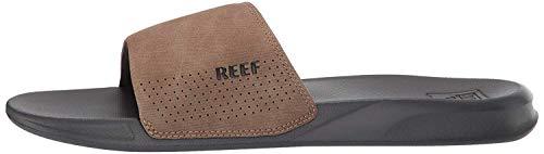 Reef One Slide, Sandalias deslizantes Hombre, Grey/Tan, 40 EU