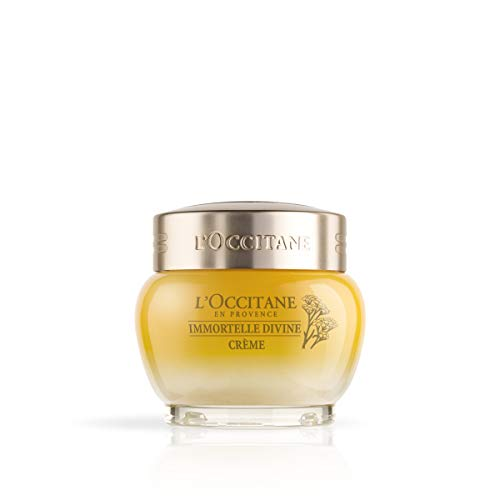 L Occitane Anti-Aging Immortelle Divine Face Cream Moisturizer for a Youthful and Radiant Glow, 1.7 oz.