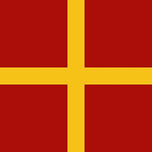 magFlags Flagge: Large Palaiologos Flag 1250 | Depicting the Arms of the Palaiologos [Palaeologus] family in use before the ascent of Michael VIII Palaeologus to the imperial throne of the Byzantine E