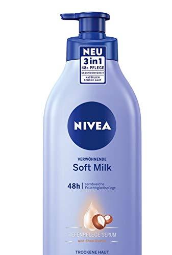 NIVEA Verwöhnende Soft Milk für 48h samtweiche Feuchtigkeitspflege im Spender, 400 ml