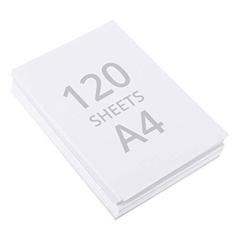 Papel para Acuarela A4 (120 Hojas) - Papel de Algodón Prensado en Frio - Hojas de Dibujo para Artistas y Principiantes, Bocetos, Pintura al Óleo y Acrílica