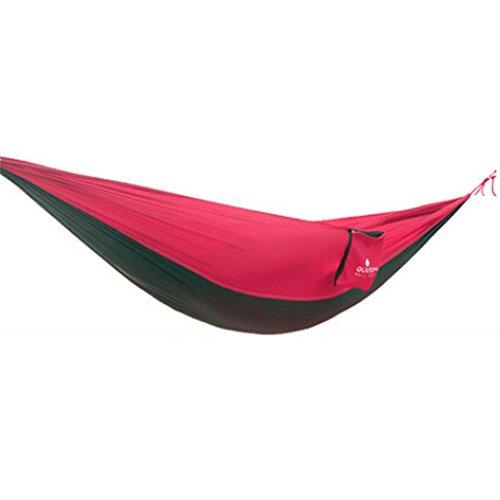 Multifonction Camping Hamac à suspendre Lit Double Taille [2.6 * * * * * * * * 1.3 m] Rouge/Noir