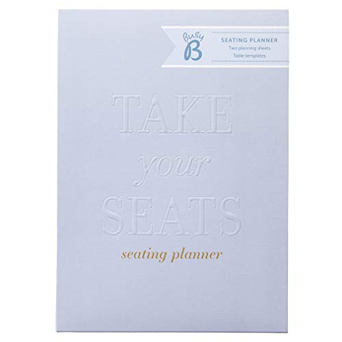 Busy B Wedding Seating Planner met gasten stickers en tafelplanners, Blauw, One Size