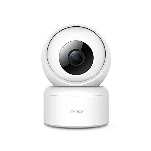 IMILAB C20 Cámara de Seguridad Inteligente, Vista giratoria de 360, visión Nocturna Mejorada Sistema de vigilancia de detección de Movimiento 1080P Trabaja con Alexa Google Home, Audio bidireccional