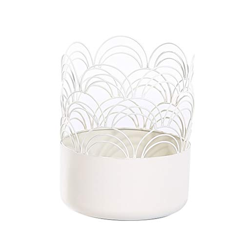 GF Pots de Fleurs Argent charnu Tortue Bambou Pot de Fleurs Fer forgé Pot de Fleurs Simple adapté au Balcon de la Chambre, Disponible en Deux Tailles Home (Color : C, Size : 30x33cm)