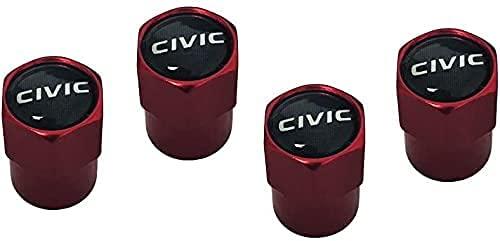4 Piezas Metal Válvula De Neumático De Automóvil para Civic, Ruedas Cubierta de Polvo Tapas, Aire de vástago de neumático Cubiertas herméticas