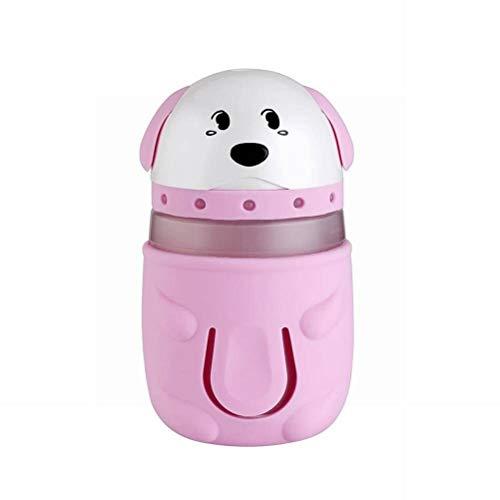 Golden_flower Humidificador de Perro USB Noche Luz Humidificador Humidificador de Aire de Escritorio Hogar Atomizador Eléctrico, Rosado, 132.5 * 75.2 MM