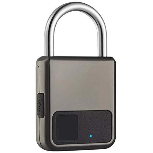 JJZXT Smart Fingerprint Lock Portable Fingerprint Pad lock Security No Password Fast Unlock Lightweight Waterproof For Suitcases Bi-Theft Security Lock