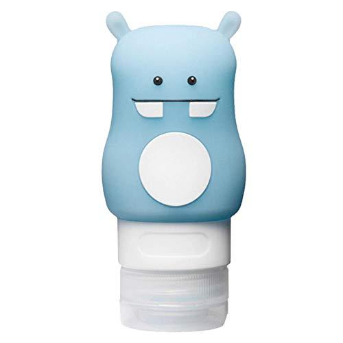 Haucy Botella de gel de sílice, botella vacía para champú, gel de ducha, bolsa de maquillaje, botella de viaje, portátil, 1 unidad, azul (Azul) - AOQEYPNF0W