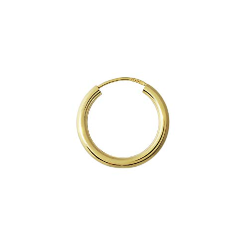 NKlaus EINZEL 333 gelb Gold CREOLE Ohrring Ohrschmuck rund Goldohrring 20mm 1850