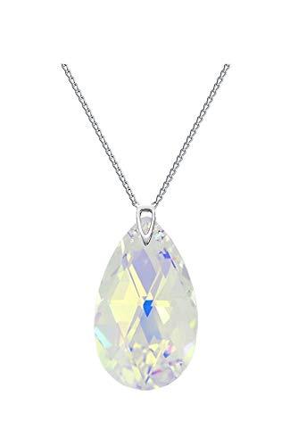 Crystals & Stones *Crystal AB* *MANDEL* 28 mm Swarovski Elements - Schön Damen Halskette - Anhänger Halskette Schmuck Mutter Geschenk mit Kristallen von Swarovski