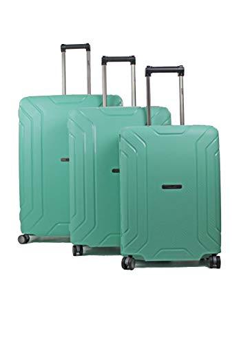 Pure - Hartschalen-Koffer Hoxton - 3-teiliges Koffer-Set - Reisekoffer mit 4 Rollen und TSA-Schloss in den Größen S, M & L - Mint