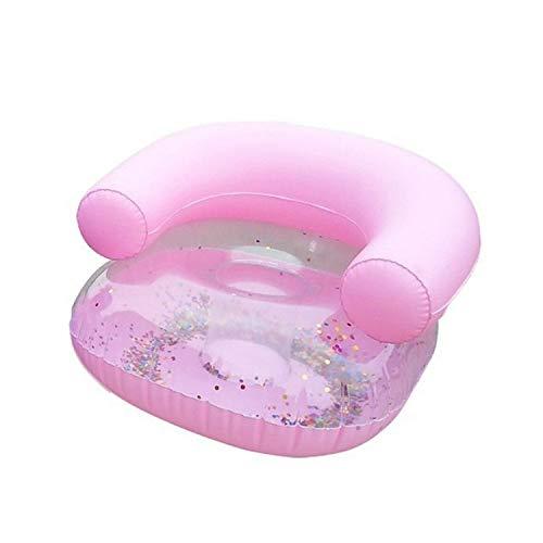 HMG bebé sofá Inflable heces Aprende portátil Multifuncional Espesado baño Infantil Sofá Silla (Infantil sofá Rosado) (Color : Color1)