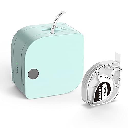 Phomemo Neues Produkt-P12 Mini Bluetooth Etikettendrucker mit Schriftband, Tragbarer Beschriftungsgerät Handgerät für Zuhause, Büro und Kleinunternehmen, Wireless Label Maker für iOS & Android Phone