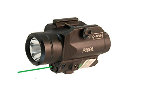HiLight Tactical LED Flashlight and Green Laser Combo for Pistols (W/Green Laser)