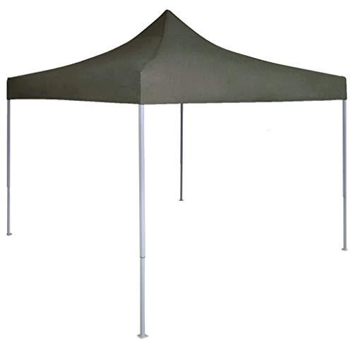 vidaXL Carpa Plegable Profesional Celebraciones Fiesta Toldo Aire Libre Decoración Pérgola Marquesina Boda Paraguas Parasol Jardín de Acero Gris Antracita