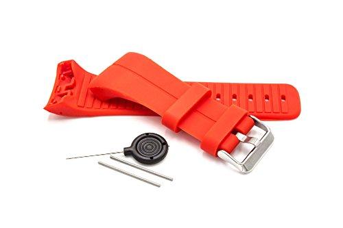 vhbw Armband passend für Polar M400, Polar M430 GPS-Laufuhr, Rot Ersatzarmband