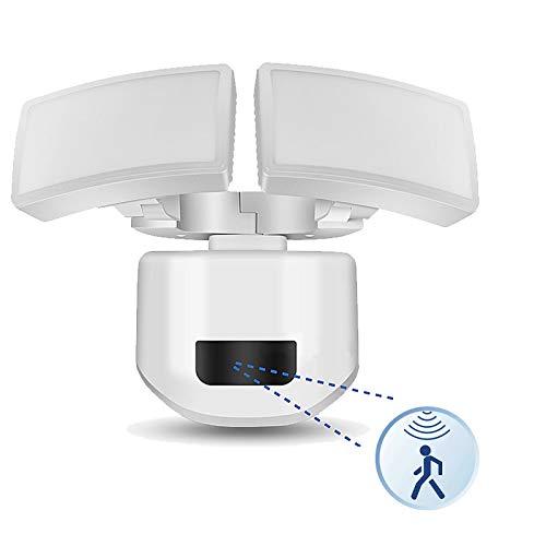 Aufun 30W LED Strahler mit Bewegungsmelder Außen Sicherheitsbeleuchtung Einstellbarem Dual-Head Bewegungs-Sensor-Licht Außenstrahler IP67 Wasserdicht für Hof Deck Garten Garage, 2600LM, Tageslichtweiß