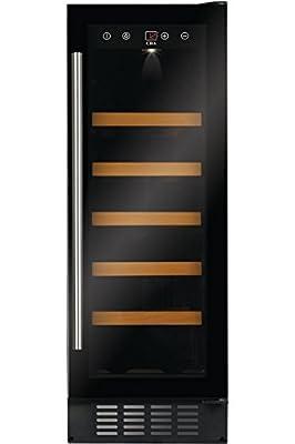 CDA FWC303Freestanding Wine Fridge, Black, 20 Bottle(s) A–Wine Cooler (Freestanding, Black, 5Shelves, 1Door, Black) by Cda