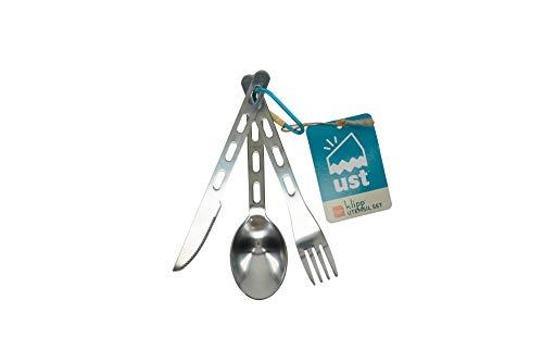 ust Stainless Steel Utensil Set with Carabiner
