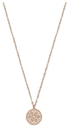 Kette - Halskette mit Sonnenanhänger: (rosévergoldet)