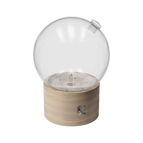 Pranarôm - Diffuseur d'Huiles Essentielles Bulle - Diffusion à sec d'Huiles Essentielles - Nébulisation - Bois et verre - Effet Brume et lumière