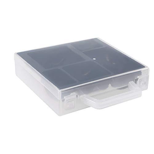 X-DREE Caja de almacenamiento portátil de la batería Contenedor de protección para la batería AAA/AA (Porte-pile Compartiment rangement batterie portable multifonction