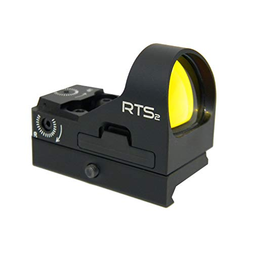 C-MORE Systems RTS2 Red Dot Sight Click 8 MOA with Rail Mount, Black