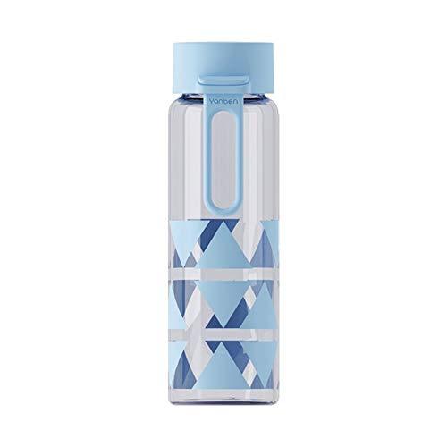 Botella De Agua Deportiva 300Ml Botella Agua Gimnasio Resistente Al Calor Botella Agua NiñA para NiñOs Colegio Oficina Viajes Aire Libre Blue,300ml
