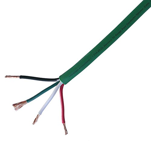 350 Ft 4-Conductor 14 GA Speaker Cable In-Wall THX Certified Pure Copper AV S14-4R CL 14 Gauge Speaker Cable 4 Wire Stereo Home Theater Digital Audio, CL3/FT4 Rated, UL Listed, By NAC Wire and Cables