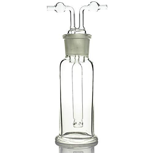 Your Lab 125ML 250ML 500ML Gas Wasch Flasche Drechsel Boden Mund 34/35 Klar Glas Labor Chemie Ausrüstung,125ml