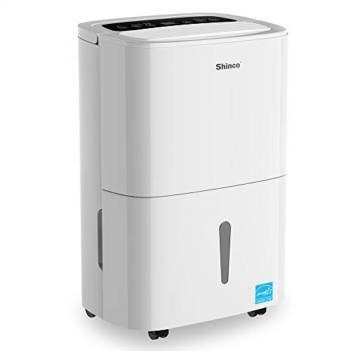 SHINCO 30 Pint Energy Star Dehumidifier,for Small to Medium Spaces,for Basement,Cellar,Garage,Bathroom,for Spaces Up to 1500 Sq Ft, Effectively Remove Moisture and Control Humidity