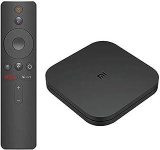 Mi Box S, CPU de Cuatro núcleos 2 GB de RAM + 8 GB de Almacenamiento Smart TV Box 4K Ultra HD + HDR Asistente de Google Ch...