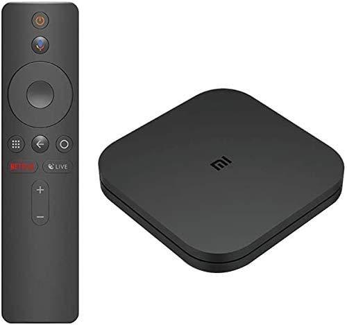 Mi Box S, CPU Quad-Core 2 Go de RAM + 8 Go de stockage Smart TV Box 4K Ultra HD + HDR Assistant Google Chromecast Bluetooth Prise en charge de la télécommande Dolby et DTS