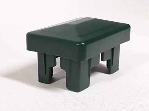 OuM 10 Stück Innenpfostenkappe Innenzaunpfahlkappe rechteckig 40x60mm Grün