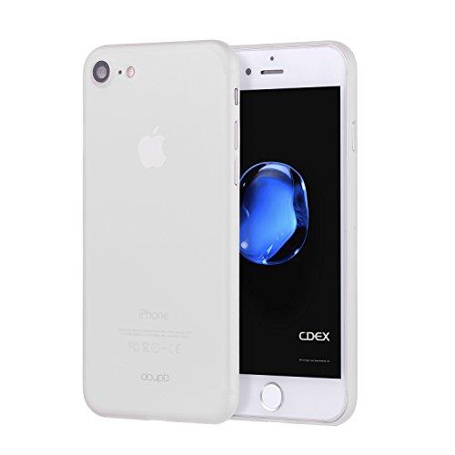 doupi UltraSlim Hülle kompatibel für iPhone SE (2020) / iPhone 8/7 (4,7 Zoll), Ultra Dünn Fein Matt Oberfläche Handyhülle Cover Bumper Schutz Schale Hard Hülle Design Schutzhülle, weiß