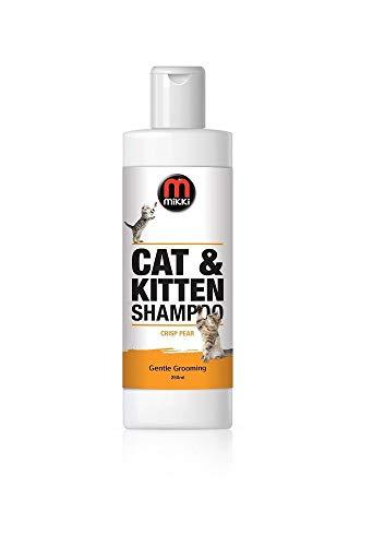 Mikki 6300237 Cat & Kitten Grooming Shampoo, Pflegendes für Katzen und Kätzchen, 250 ml, frischer Birnenduft