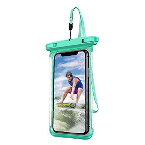NIDONE Funda a Prueba de Agua Phone Floatable Bolsa de teléfono de teléfono Inteligente con cordón Verde