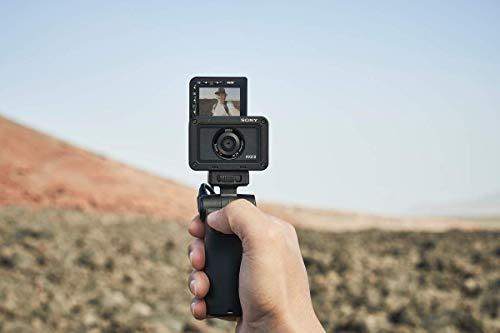 Sony RX0 II Creator Kit | Robuste, Ultra-kompakte Kamera mit Aufnahmegriff VCT-SGR1 (1.0-Typ-Sensor, 24mm F4,0 Zeiss-Objektiv) & SanDisk Extreme microSDXC 256GB + SD Adapter