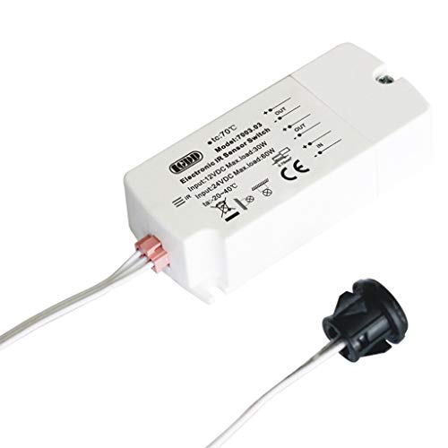 HOTPINK1 Interruptor de sensor infrarrojo CC 12 V, 40 W, para tira de luces LED Motion Hand Wave 5 cm