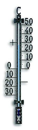 TFA 12.5000 - Termómetro de exterior, metal, 35 x 14 x 165 mm, color negro