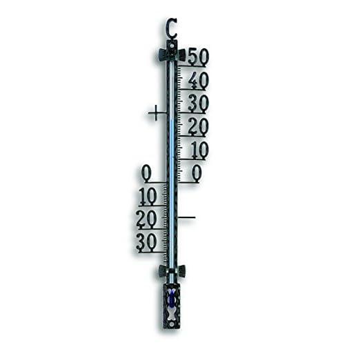 TFA Termometro da Esterno in Metallo Nero