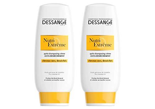 DESSANGE - Nutri Extrême Après-Shampooing Crème Anti-Dessèchement Pour Cheveux Secs Ou Desséchés - 200 ml - Lot de 2